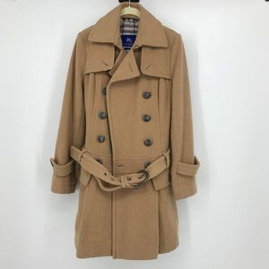 Burberry blue label (Japan) camel/tan wool trench
